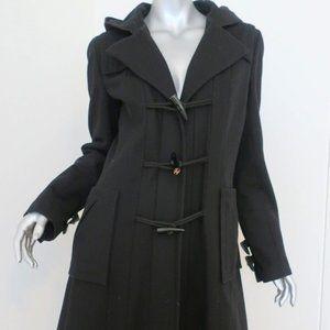 Chanel Duffle Coat Wool Hooded Toggle Jacket